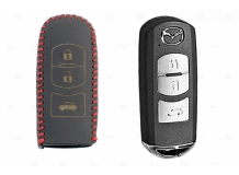Чехол для ключей Mazda кожаный (T2, BGT-LKH-Mz-Y905-R)