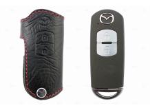 Чехол для ключей Mazda кожаный (T1, BGT-LKH900-2)