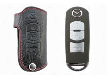 Чехол для ключей Mazda кожаный (T1, BGT-LKH900-3-1)