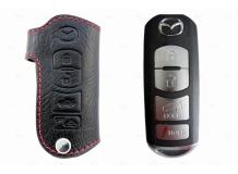Чехол для ключей Mazda кожаный (T1, BGT-LKH900-4)