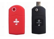 Чехол для ключей Mazda силиконовый (BGT-SKH406-2-Mz-Rd)