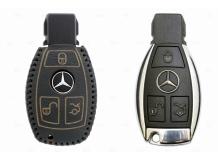 Чехол для ключей Mercedes кожаный (T2, BGT-LKH-MB-805-B)
