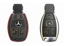 Чехол для ключей Mercedes кожаный (T2, BGT-LKH-MB-805-R)