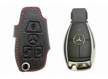Чехол для ключей Mercedes кожаный (T1, BGT-LHK804-MB)