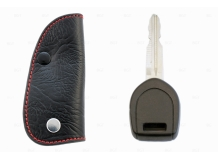 Чехол для ключей Mitsubishi кожаный (T1, BGT-LKH500-1-Mitsu)