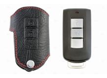 Чехол для ключей Mitsubishi кожаный (T1, BGT-LKH803-Mitsu)