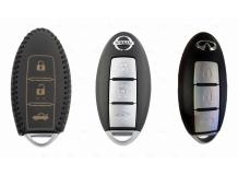 Чехол для ключей Nissan кожаный (T2, BGT-LKH-Ns-Y701-B)
