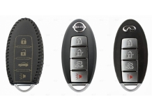 Чехол для ключей Nissan кожаный (T2, BGT-LKH-Ns-Y801-B)