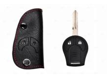 Чехол для ключей Nissan кожаный (T1, BGT-LKH110N)