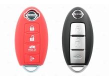 Чехол для ключей Nissan силиконовый (BGT-SKH701N-3B-Rd)