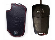 Чехол для ключей Opel кожаный (T1, BGT-LKH101-Op)