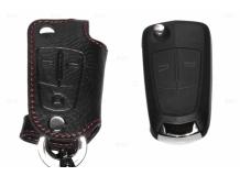 Чехол для ключей Opel кожаный (T1, BGT-LKH102-Op)