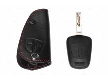Чехол для ключей Opel кожаный (T1, BGT-LKH104-Op)