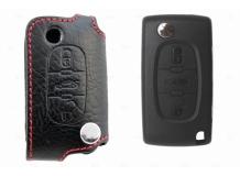 Чехол для ключей Peugeot кожаный (T1, BGT-LKH501-Pe3)
