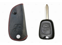 Чехол для ключей Peugeot кожаный (T1, BGT-LKH901-Pe)
