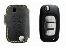 Чехол для ключей Renault кожаный (T1, BGT-LKH-Re3)