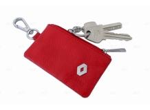 Чехол для ключей Renault кожаный, универсальный (BGT-LKH-UNR-Re)