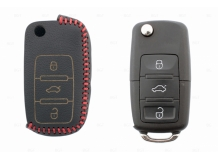 Чехол для ключей Seat кожаный (T2, BGT-LKH-VwSkSt-Y2-R)