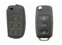 Чехол для ключей Skoda кожаный (T2, BGT-LKH-VwSkSt-Y2-B)