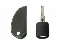 Чехол для ключей Skoda кожаный (T1, BGT-LKH405-Sk)