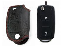 Чехол для ключей Skoda кожаный (T1, BGT-LKH603-2B)