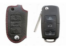 Чехол для ключей Skoda кожаный (T1, BGT-LKH603-3B)