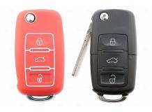 Чехол для ключей Skoda силиконовый (BGT-SKH-VwSkSt-Rd)