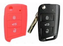 Чехол для ключей Skoda силиконовый (BGT-SKH-VwSkSt-rd-new)