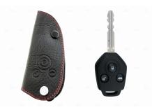 Чехол для ключей Subaru кожаный (T1, BGT-LKH905-Sub1)