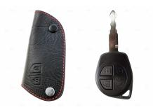 Чехол для ключей Suzuki кожаный (T1, BGT-LKH-Suz)