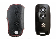 Чехол для ключей Suzuki кожаный (T1, BGT-LKH-Suz1)