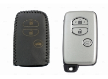 Чехол для ключей Toyota кожаный (T2, BGT-LKH-T-Y503-B)