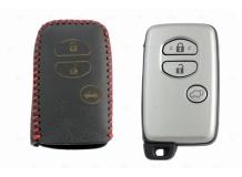 Чехол для ключей Toyota кожаный (T2, BGT-LKH-T-Y503-R)