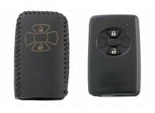 Чехол для ключей Toyota кожаный (T2, BGT-LKH-T-Y606-B)