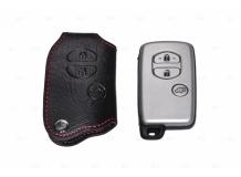 Чехол для ключей Toyota кожаный (T1, BGT-LKH503-T3B)