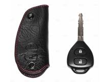 Чехол для ключей Toyota кожаный (T1, BGT-LKH504-T-CRL)