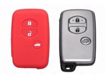 Чехол для ключей Toyota силиконовый (BGT-SKH503-T3B-Rd)