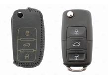 Чехол для ключей Volkswagen кожаный (T2, BGT-LKH-VwSkSt-Y2-B)