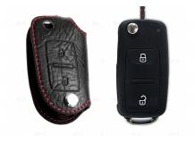 Чехол для ключей Volkswagen кожаный (T1, BGT-LKH505-VW2)