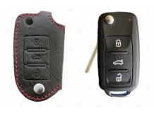 Чехол для ключей Volkswagen кожаный (T1, BGT-LKH506-VW3)