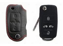 Чехол для ключей Volkswagen кожаный (T1, BGT-LKH506-VW5)