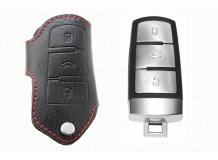 Чехол для ключей Volkswagen кожаный (T1, BGT-LKH608-VW3)