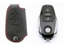 Чехол для ключей Volkswagen кожаный (T1, BGT-LKHT-VW)