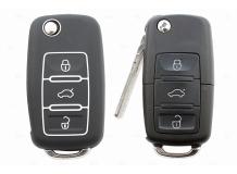 Чехол для ключей Volkswagen силиконовый (BGT-SKH-VwSkSt-Bk)