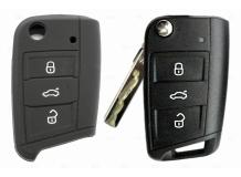 Чехол для ключей Volkswagen силиконовый (BGT-SKH-VwSkSt-Bk-new)