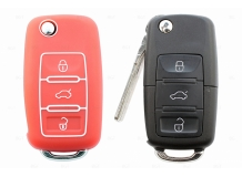 Чехол для ключей Volkswagen силиконовый (BGT-SKH-VwSkSt-Rd)