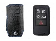 Чехол для ключей Volvo кожаный (T1, BGT-LKH-Vo1-5)