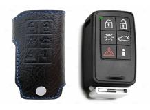 Чехол для ключей Volvo кожаный (T1, BGT-LKH-Vo1-6)