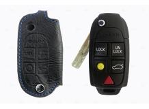 Чехол для ключей Volvo кожаный (T1, BGT-LKH-Vo3)