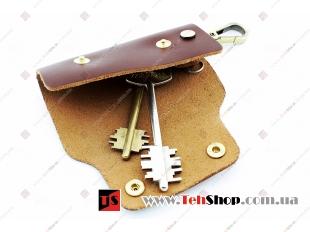 Чехол для ключей Audi кожаный, универсальный (BGT-LKH-UDBR-Au)